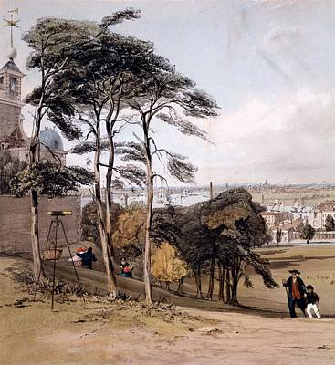 View Of London From Greenwich Park, 1842 Art Print by Thomas Shotter Boys