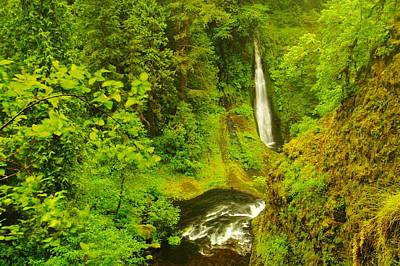 View Of Loowit Falls Art Print by Jeff Swan