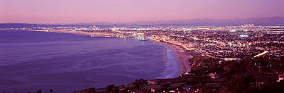 California Ocean Photograph - View Of Los Angeles Downtown by Panoramic Images