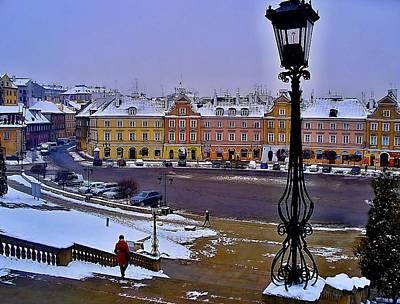 View Of Lublin Castle Steps  Art Print