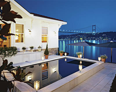 Photograph - View Of Luxurious Resort At Night by Erhard Pfeiffer
