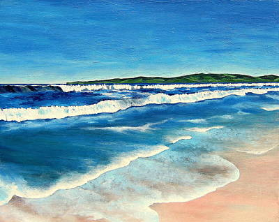 Malibu Painting - View Of Malibu by Nancy Del Riego