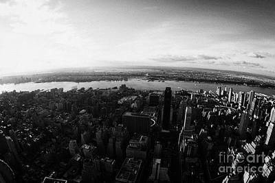 View Of Manhattan South West Towards Hudson River New Jersey New York City Art Print