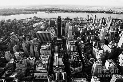 View Of Manhattan West Towards Hudson River And One Penn Plaza New York City Art Print by Joe Fox
