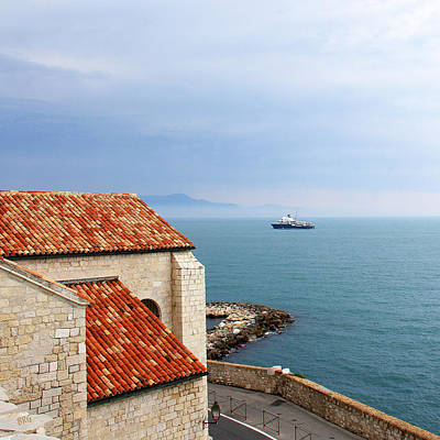 Photograph - View Of Mediterranean In Antibes France by Ben and Raisa Gertsberg