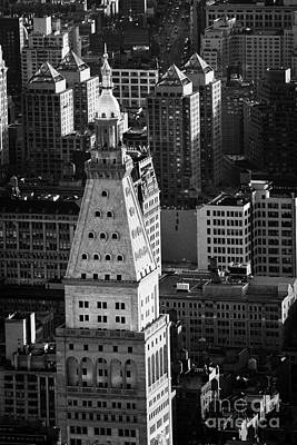 View Of Metropolitan Life Insurance Corp Tower Building New York City Print by Joe Fox