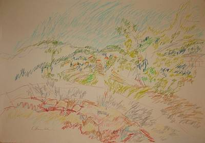 Drawing - View Of Mevaseret Zion by Esther Newman-Cohen