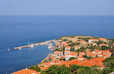Photograph - View Of Molyvos Village From The Castle by George Atsametakis