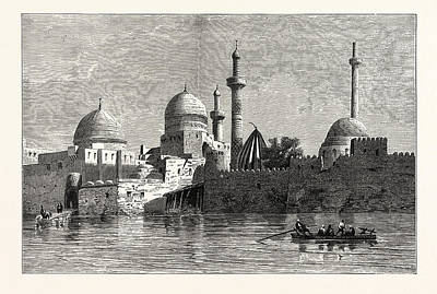 Iraq Drawing - View Of Mosul From The Tigris. Baghdad by Litz Collection