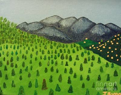 Mount Baldy Painting - View Of Mount Baldy by Julia Hanna
