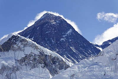 View Of Mount Everest From The Summit Of Kala Pathar In The Everest Region Of Nepal Art Print by Robert Preston