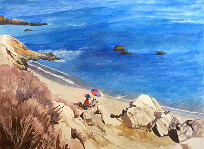 Painting - View Of Movie Beach Malibu by Kathryn Donatelli