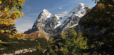 Lauterbrunnen Wall Art - Photograph - View Of Mt Eiger And Mt Monch, Murren by Panoramic Images