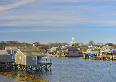 Photograph - View Of Nantucket From The Harbor by Marianne Campolongo