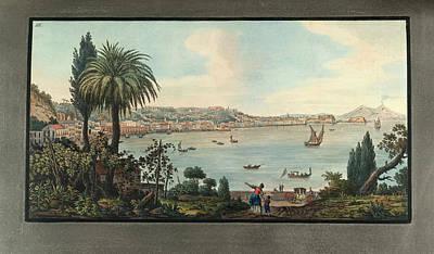 View Of Naples With Mt. Vesuvius Art Print