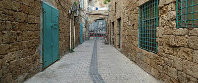 Building Feature Photograph - View Of Narrow Alley, Acre Akko, Israel by Panoramic Images