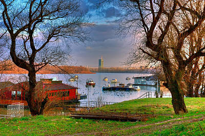 View Of New Belgrade Over The Danube. Serbia Art Print