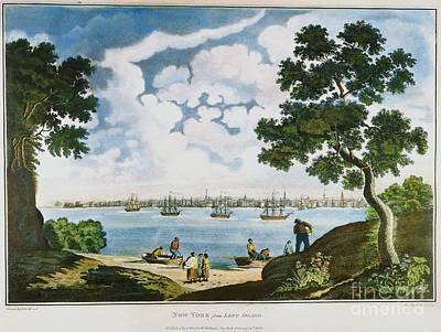 View Of New York 1801 Art Print by Granger