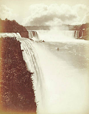 View Of Niagara Falls As Seen From Prospect Point Art Print