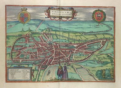 View Of Norwich Art Print by British Library