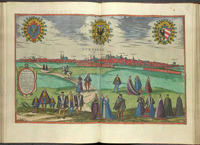 Cartography Photograph - View Of Nuremberg by British Library