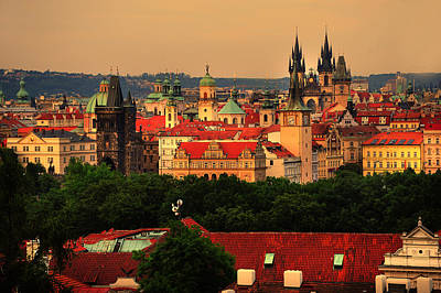 Photograph - View Of Old Prague From Petrin Hills by Jenny Rainbow