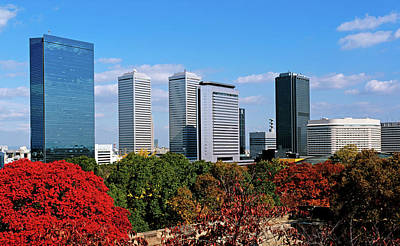View Of Osaka Business Park In Autumn Art Print by Panoramic Images