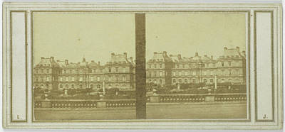 Palais Du Luxembourg Wall Art - Drawing - View Of Palais Du Luxembourg, Paris France by Artokoloro