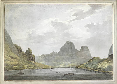 View Of Papetoai Bay Art Print by British Library