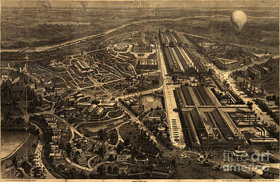 View Of Philadelphia S Centennial Exposition 1876 Art Print by Celestial Images