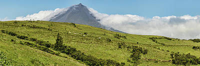 Azores Photograph - View Of Pico Mountain, Pico Island by Panoramic Images