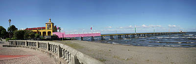 Balusters Photograph - View Of Pier On Beach, Lake Nicaragua by Panoramic Images