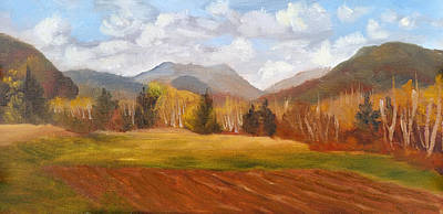 Featured Tapestry Designs - View of Pinkham Notch from Shartners Field by Sharon E Allen