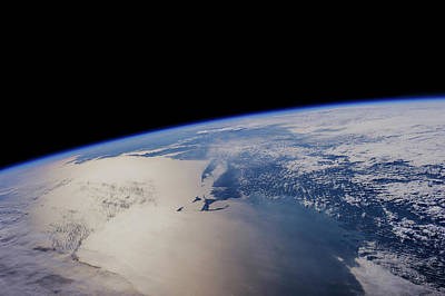 Cape Cod Bay Photograph - View Of Planet Earth From Space Showing by Panoramic Images