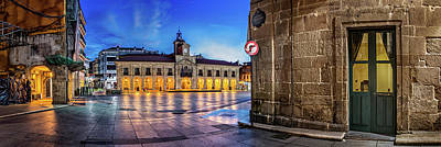 View Of Plaza De Espana Of Aviles Art Print by Panoramic Images