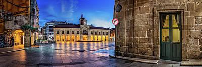Espana Photograph - View Of Plaza De Espana Of Aviles by Panoramic Images