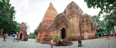 Medieval Temple Photograph - View Of Po Nagar Cham Temple Tower, Nha by Panoramic Images