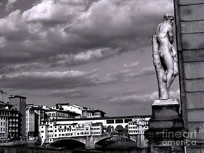 Photograph - View Of Ponte Veccho In Florence by Jacqueline M Lewis