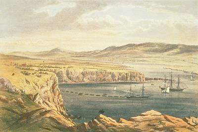 Development Drawing - View Of Port Magee, Valentia by Robert Dudley