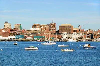 View Of Portland Harbor Boats Art Print