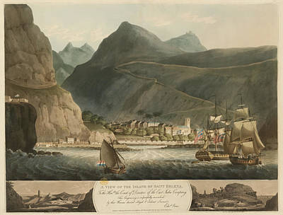 View Of Saint Helena Art Print by British Library