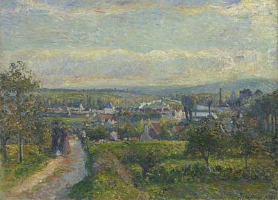 View Of Saint Ouen L Aumone, 1876 Art Print