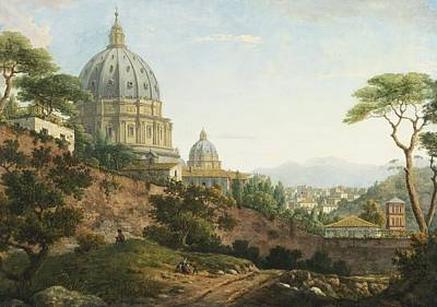 View Of Saint Peter's Rome Art Print by Celestial Images