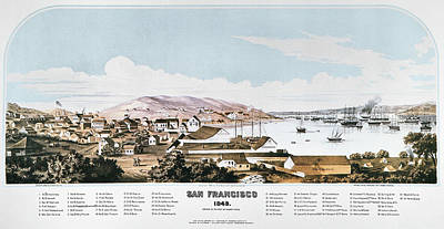 Destiny Painting - View Of San Francisco, 1849 by Granger