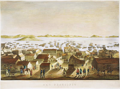 Destiny Painting - View Of San Francisco, C1850 by Granger