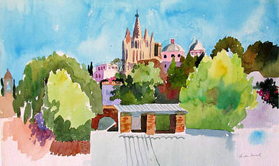 Painting - View Of San Miguel D'allende From The Instituto D'allende by Linda Novick
