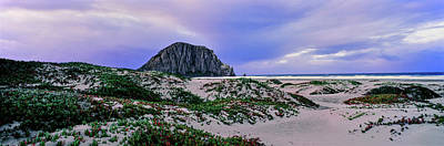 Morro Bay Photograph - View Of Sand Dunes And The Morro Rock by Panoramic Images