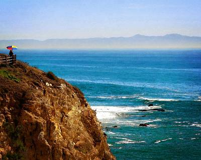 Photograph - View Of Santa Catalina From Point Vicente by Timothy Bulone