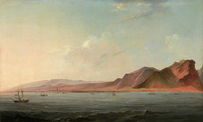 Santa Cruz Sailboat Painting - View Of Santa Cruz, Tenerife Signed And Dated by Litz Collection