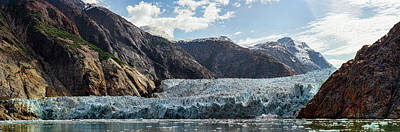 View Of Sawyer Glacier Art Print by Panoramic Images